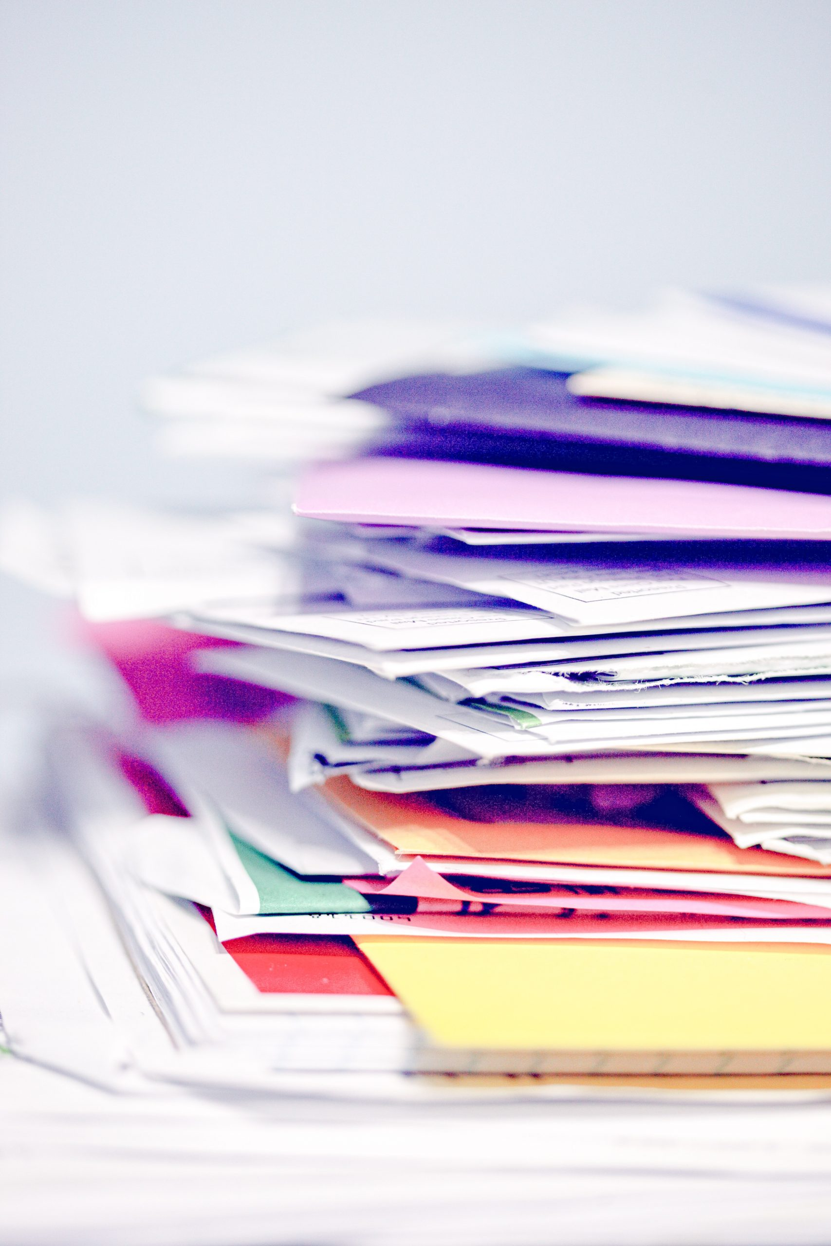 Things to do at home - sort out paperwork