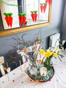 Easter table decorating, Easter tree, Easter flowers, Cosmo Mum Blog