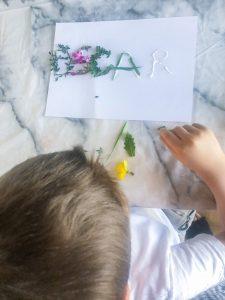 Kids Nature Name Craft Activity