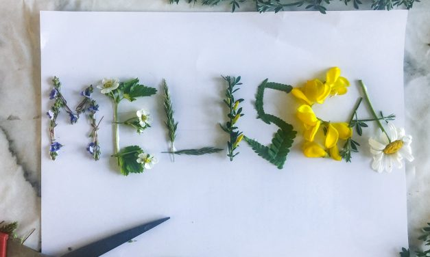 Easy nature name writing craft for kids